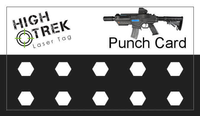 Laser Tag Punch Card